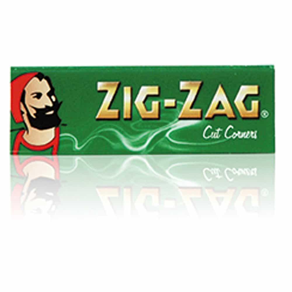 Zig-Zag Cut Corners Finest Quality Rolling Paper Single