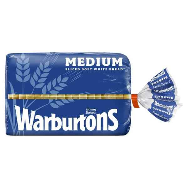 Warburtons Medium Sliced White Bread 400g PM