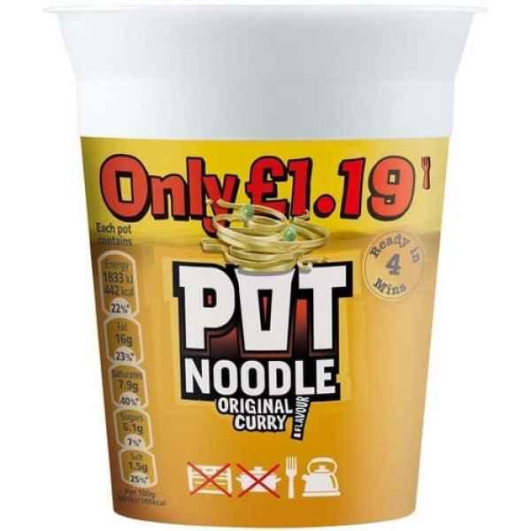 Pot Noodle Original Curry PM
