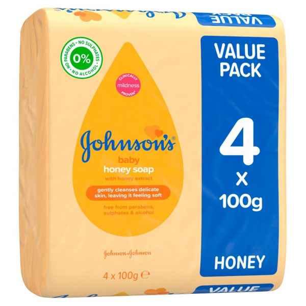 Johnson's Baby Honey Soap 4 Pack