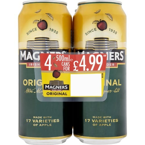 Magners Irish Cider Original Apple 4 x 500ml