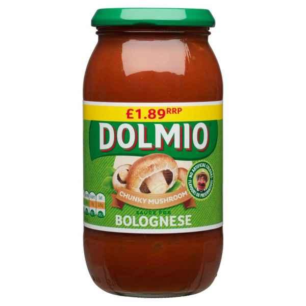 DOLMIO© Chunky Mushroom Sauce for Bolognese 500g