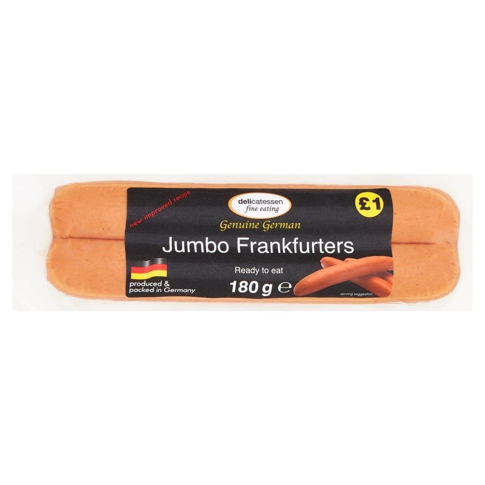 Delicatessen Fine Eating Jumbo Frankfurters 2 x 90g (180g)