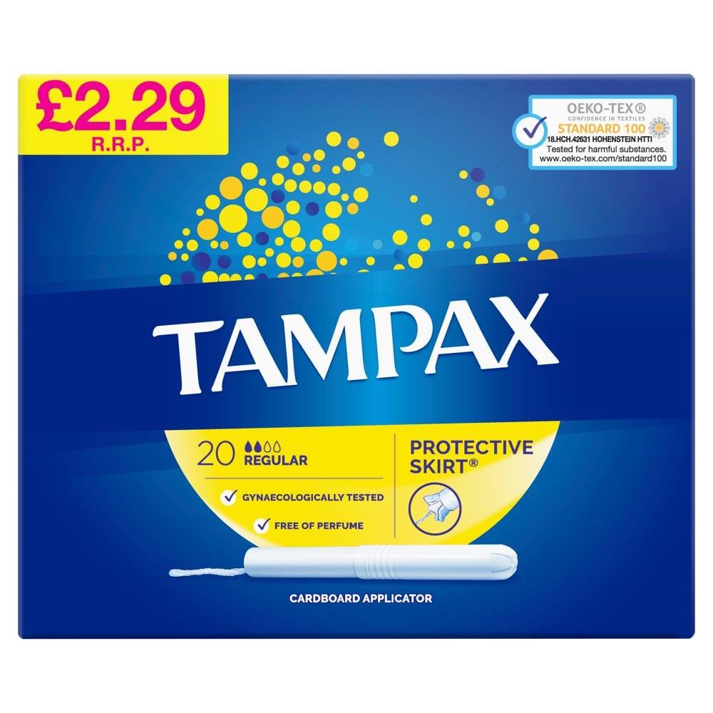 Tampax Regular Tampons Applicator Cardboard 20X PM