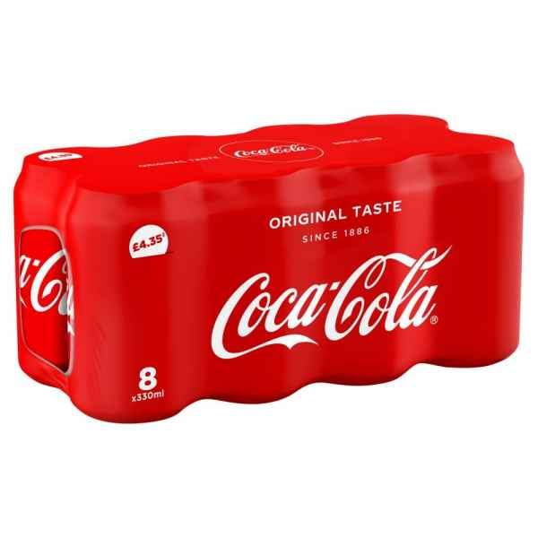 Coca-Cola Original Taste 8 x 330ml Cans PM