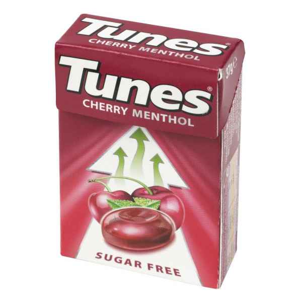 Tunes Cherry Menthol Sugar Free 37g