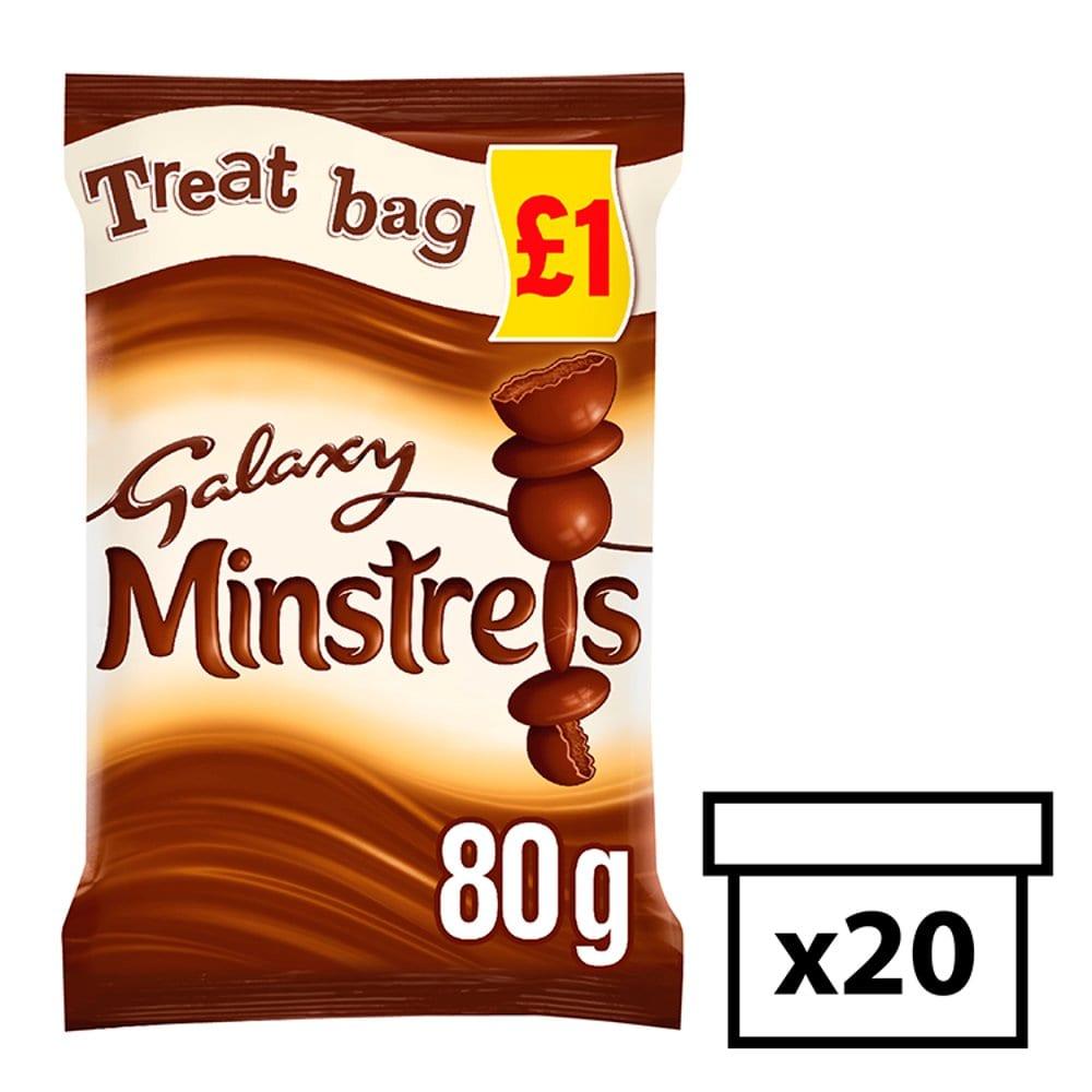 Galaxy Minstrels Chocolate Treat Bag 80g PM