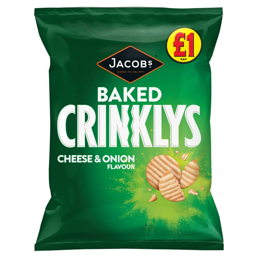 Jacobs Baked Crinklys Cheese & Onion Flavour 105g
