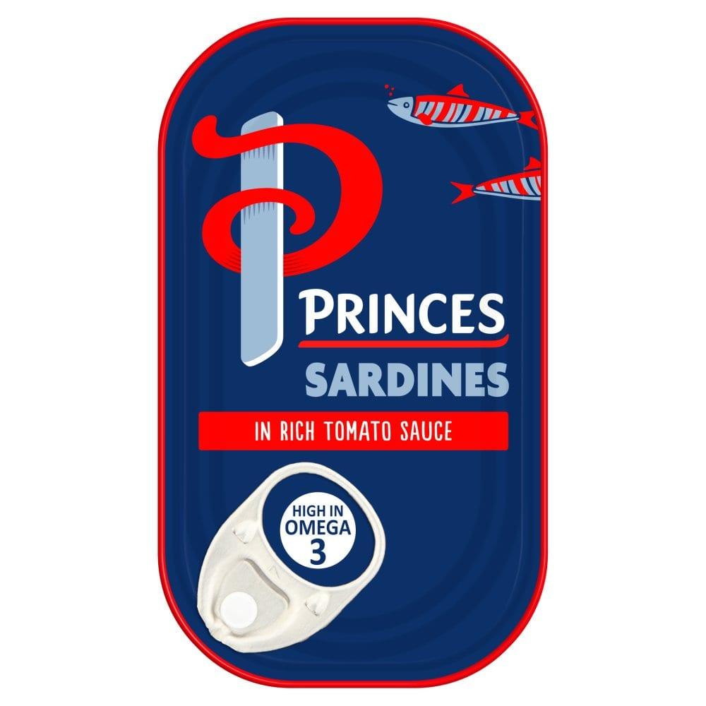 Princes Sardines in Rich Tomato Sauce 120g
