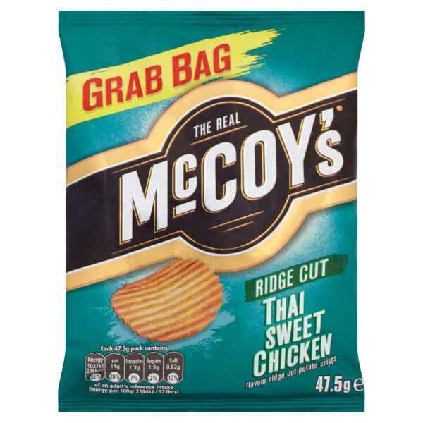 McCoy's Ridge Cut Thai Sweet Chicken Potato Crisps 47.5g