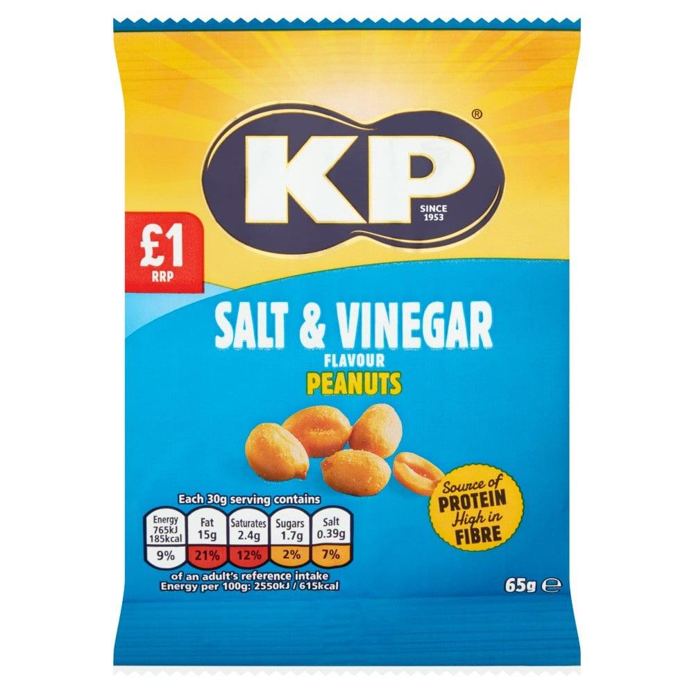 KP Salt & Vinegar Flavour Peanuts 65g