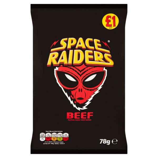 Space Raiders Beef Flavour Cosmic Corn Snacks 78g