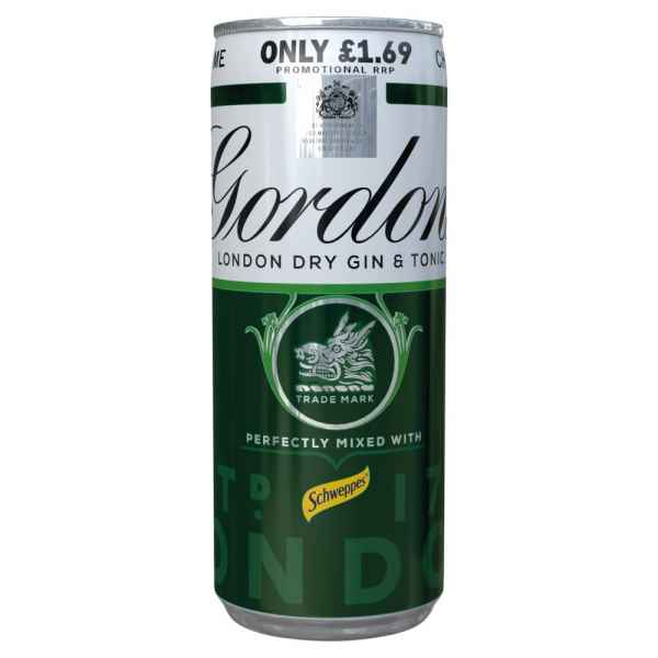 Gordon's Gin with Schweppes Gin & Tonic 250ml PMP