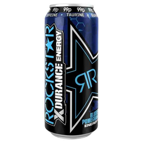 Rockstar Xdurance Blueberry, Pomegranate & Acai Energy Drink 500ml Can PMP