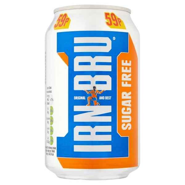 IRN-BRU Sugar Free 330ml Can PMP