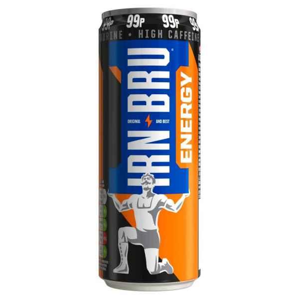IRN-BRU Energy Drink 330ml Can PMP