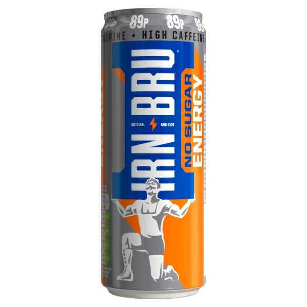 IRN-BRU Energy Drink No Sugar 330ml Can PMP