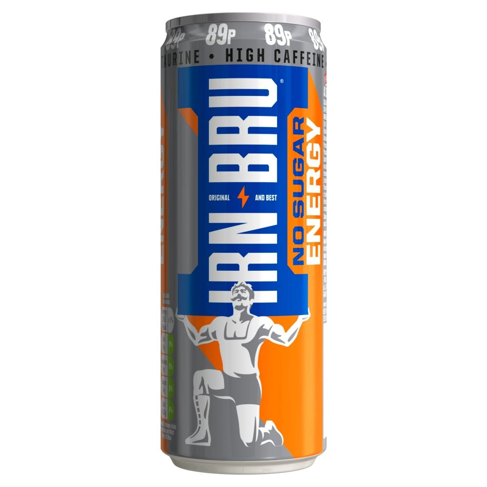 IRN-BRU Energy Drink No Sugar 330ml Can PM