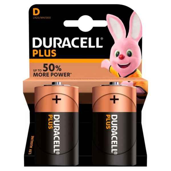 Duracell Plus Power D Alkaline Batteries 2 counts