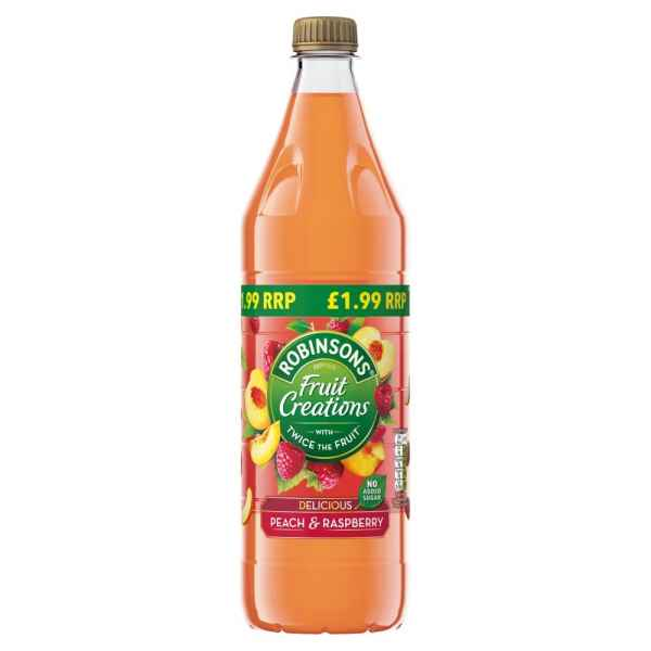 Robinsons Fruit Creations Delicious Peach & Raspberry 1L PMP