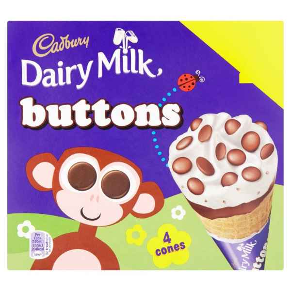Cadbury Dairy Milk Buttons 4 Pack