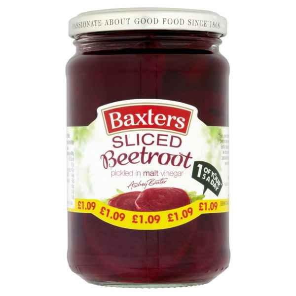 Baxters Sliced Beetroot 340g PM