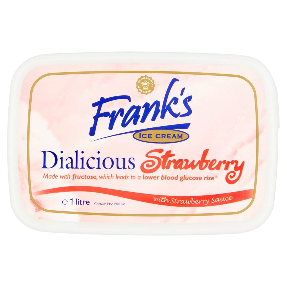 Frank's Ice Cream Dialicious Strawberry with Strawberry Sauce 1 Litre