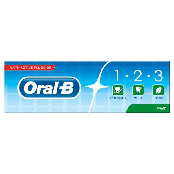 Oral-B 123 Fresh Mint Toothpaste 75ml
