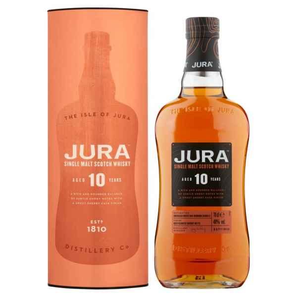 Jura Aged 10 Years Single Malt Scotch Whisky 70cl