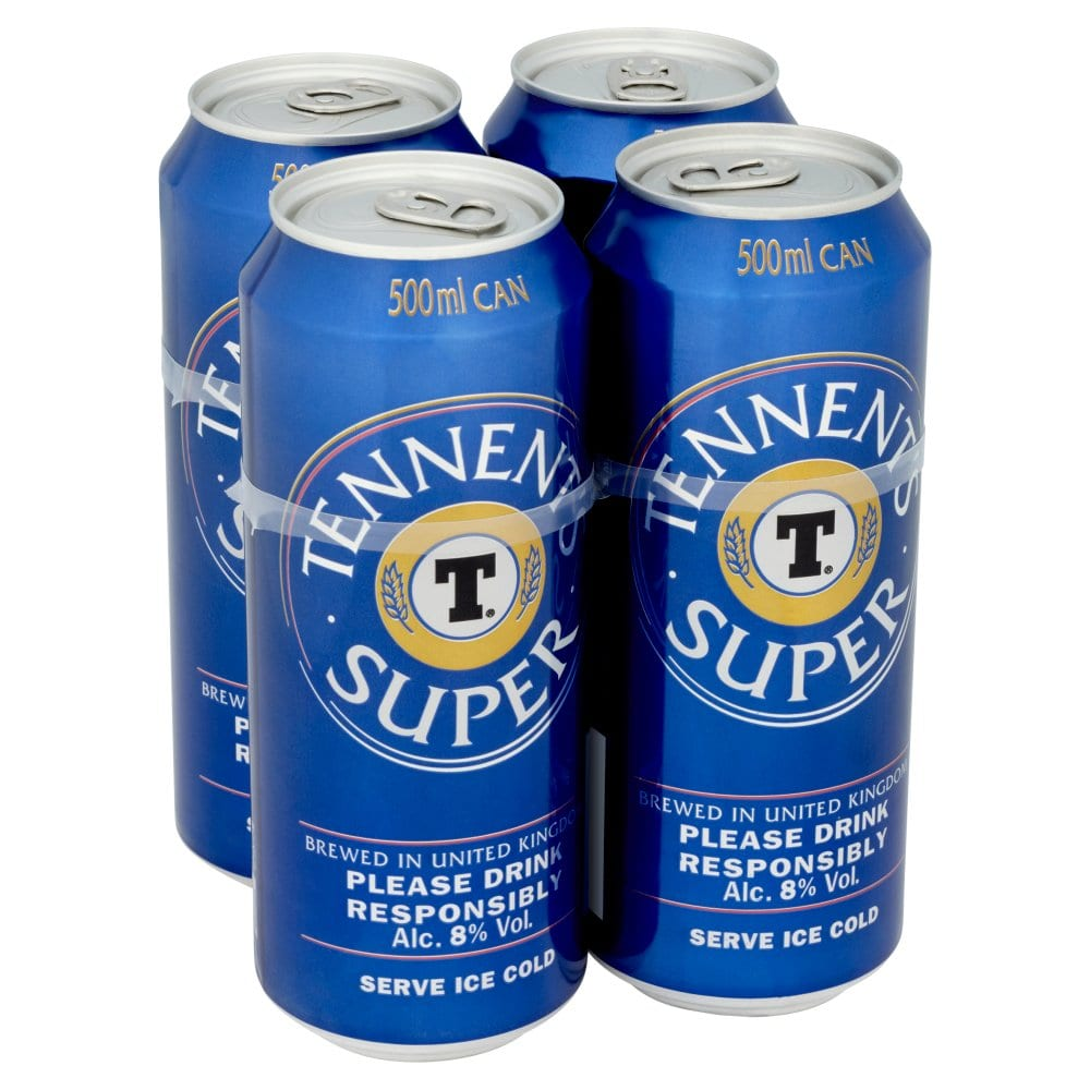 Tennent's Super Strong Lager Single Beer Can 500ml
