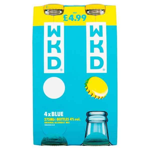WKD Blue 4 x 275ml PMP