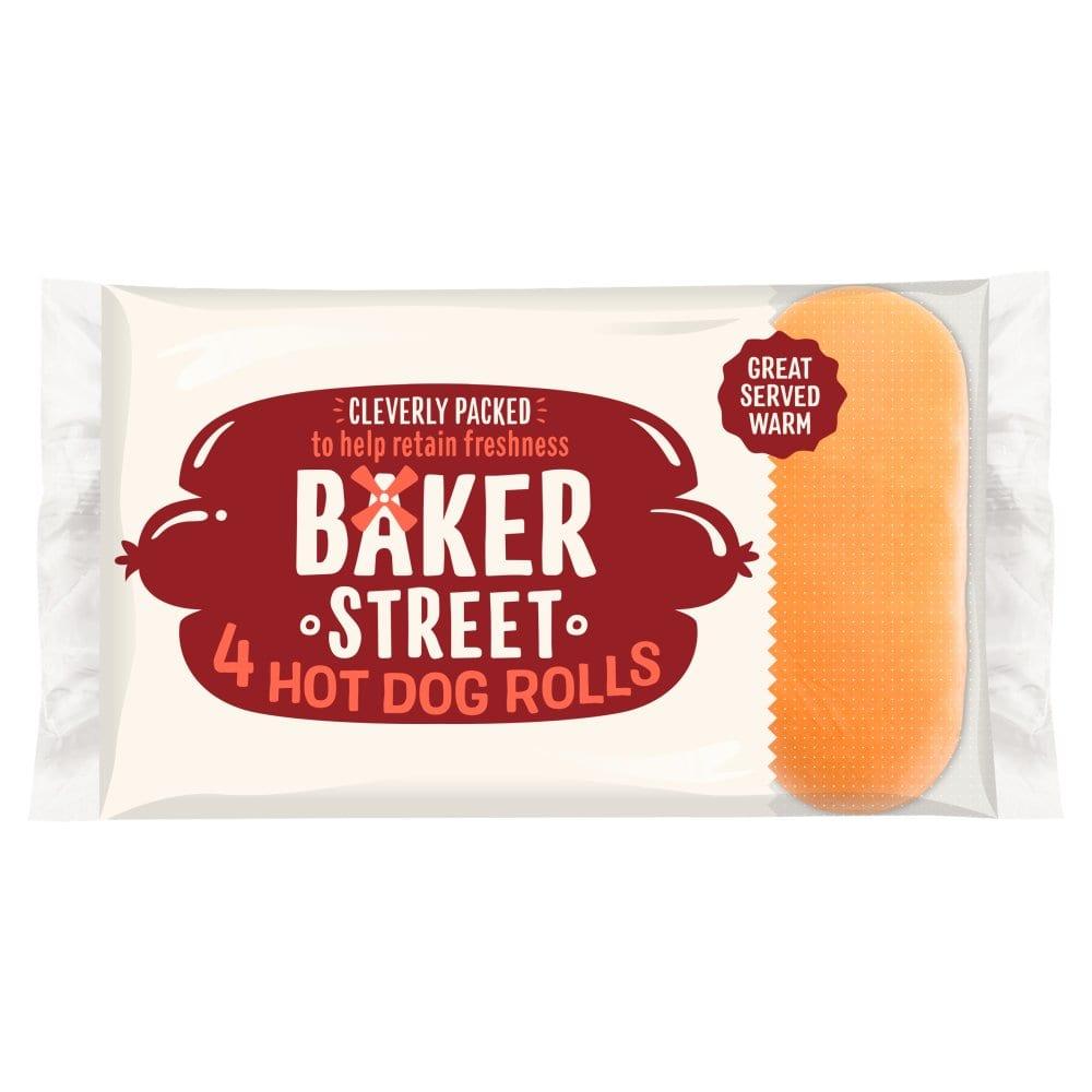Baker Street 4 Jumbo Hotdog Rolls