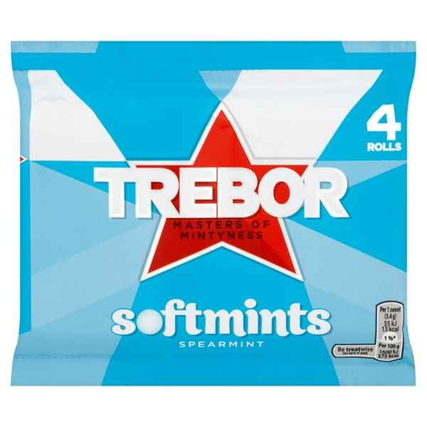 Trebor Softmints Spearmint Mints 4 Rolls 179.6g