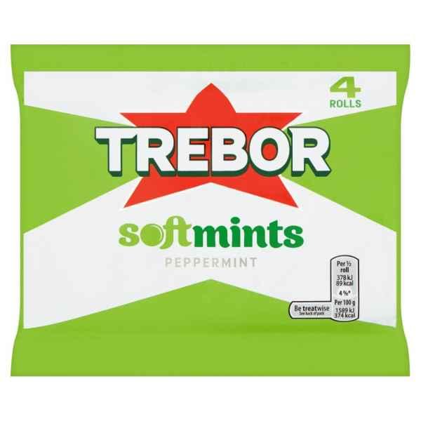 Trebor Softmints Peppermint Mints 4 Rolls 179.6g