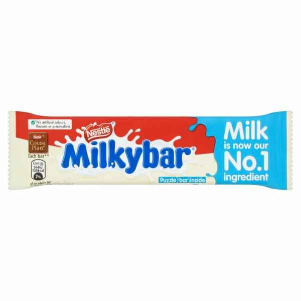 Nestle Milkybar White Chocolate Medium Bar 25g
