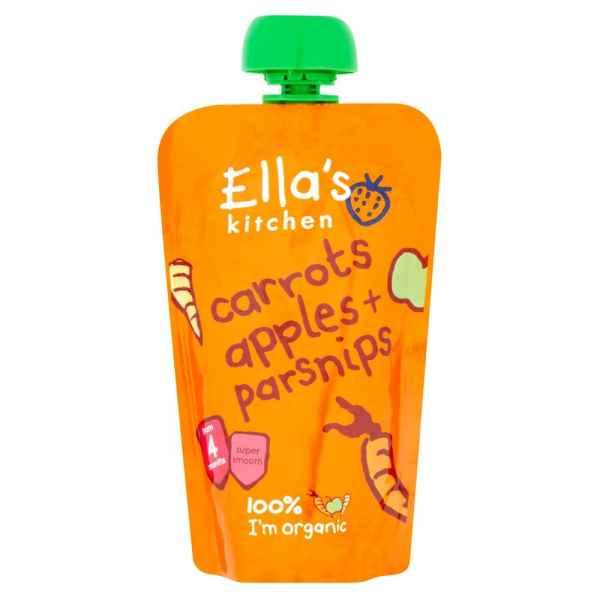 Ella's Kitchen Organic Carrots Apples + Parsnips Pouch 4+ Months 120g