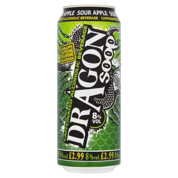 Dragon Soop Caffeinated Alcoholic Beverage Sour Apple 500ml