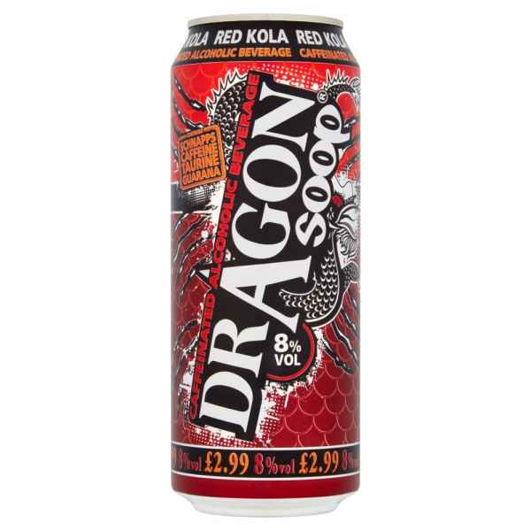 Dragon Soop Caffeinated Alcoholic Beverage Red Kola 500ml