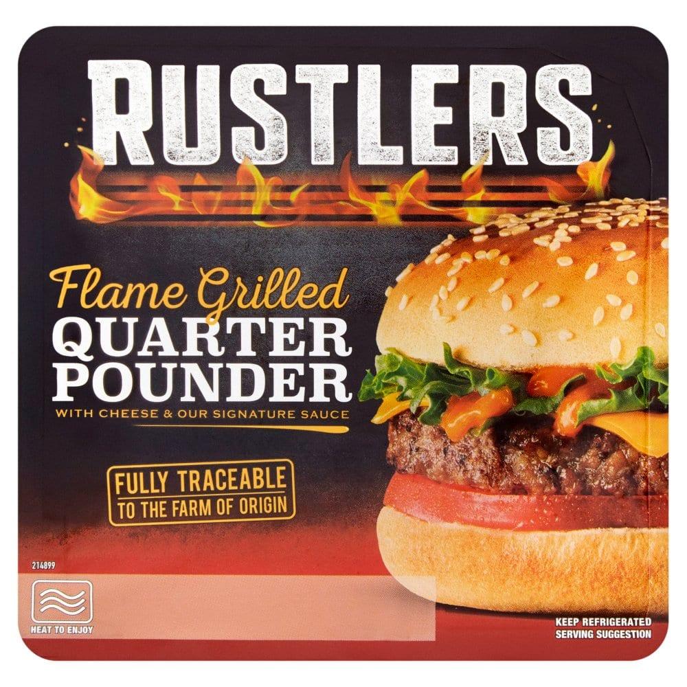 Rustlers Flame Grilled Quarter Pounder 190g
