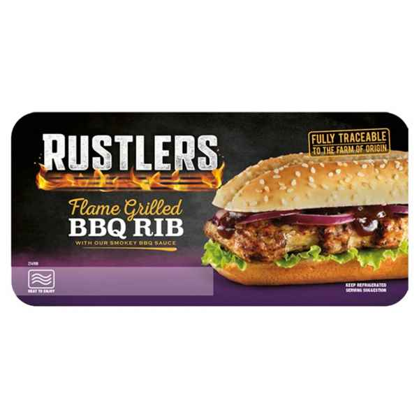 Rustlers Flame Grilled BBQ Rib 157g