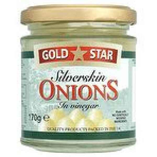 Gold Star Silverskin Onions In Vinegar 170g
