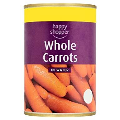Happy Shopper Whole Carrots in Water 300g