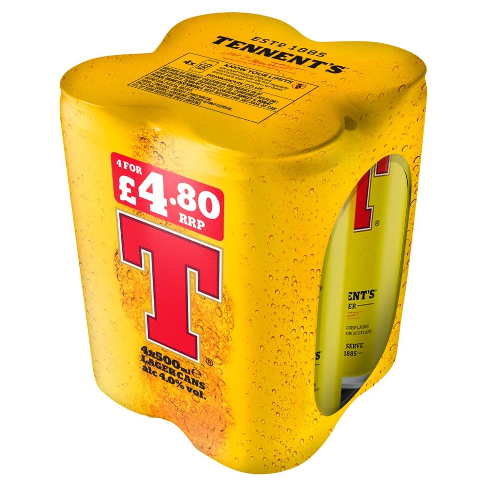 Tennent's Lager 4 x 500ml