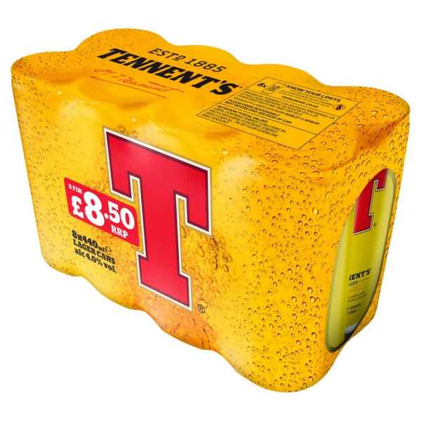 Tennent's Lager 8 x 440ml