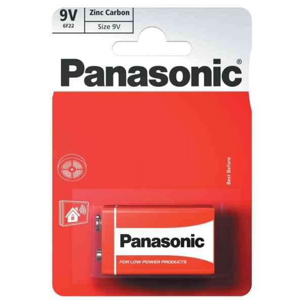 Panasonic 9V Zinc Carbon Batteries 1pk