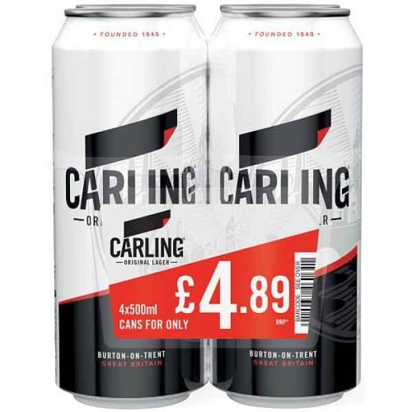 Carling Original Lager 4 x 500ml