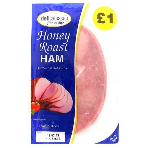 Delicatessen Honey Roast Ham 5 Slices 90g