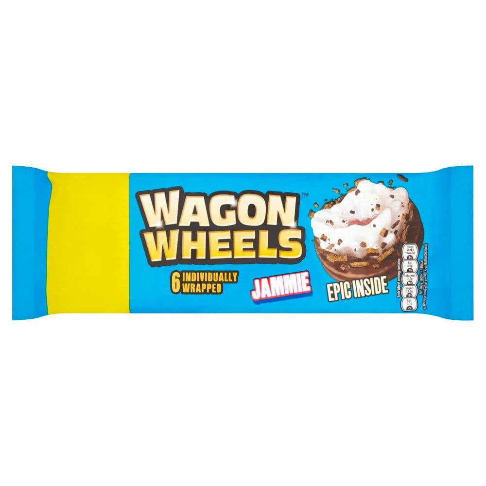 Wagon Wheels 6 Individually Wrapped Jammie