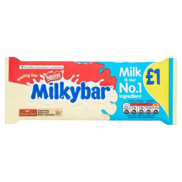 Milkybar White Chocolate Sharing Block 100g