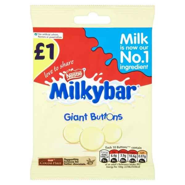 Milkybar White Chocolate Sharing Bag 85g PM